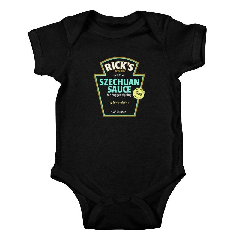 Rick's Favourite Szechuan Sauce Kids Baby Bodysuit by AMODesign's Artist Shop