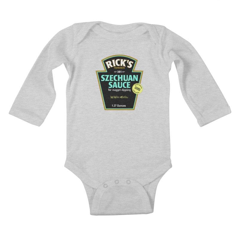 Rick's Favourite Szechuan Sauce Kids Baby Longsleeve Bodysuit by AMODesign's Artist Shop
