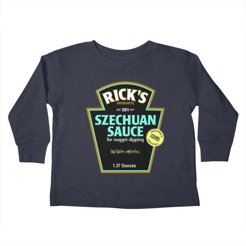 Rick's Favourite Szechuan Sauce Kids Toddler Longsleeve T-Shirt by AMODesign's Artist Shop