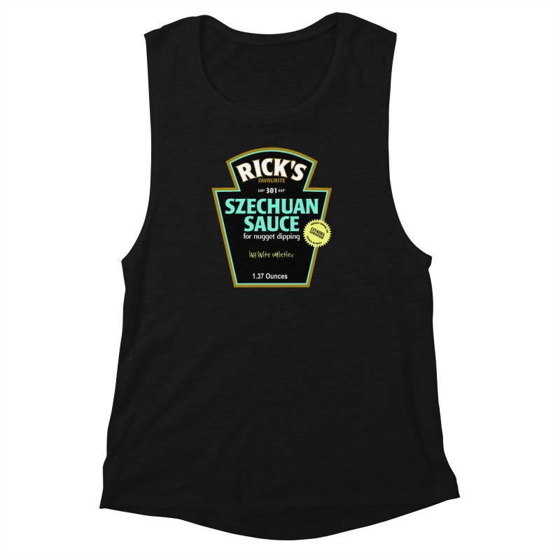 Rick's Favourite Szechuan Sauce Women's Muscle Tank by AMODesign's Artist Shop