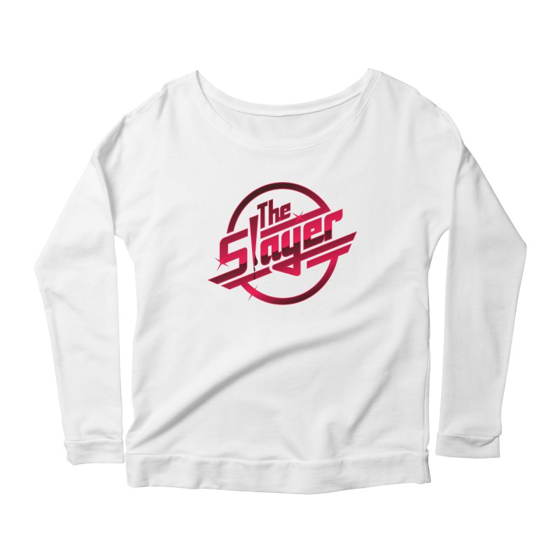 Once More With Slaying Women's Longsleeve Scoopneck  by AMODesign's Artist Shop