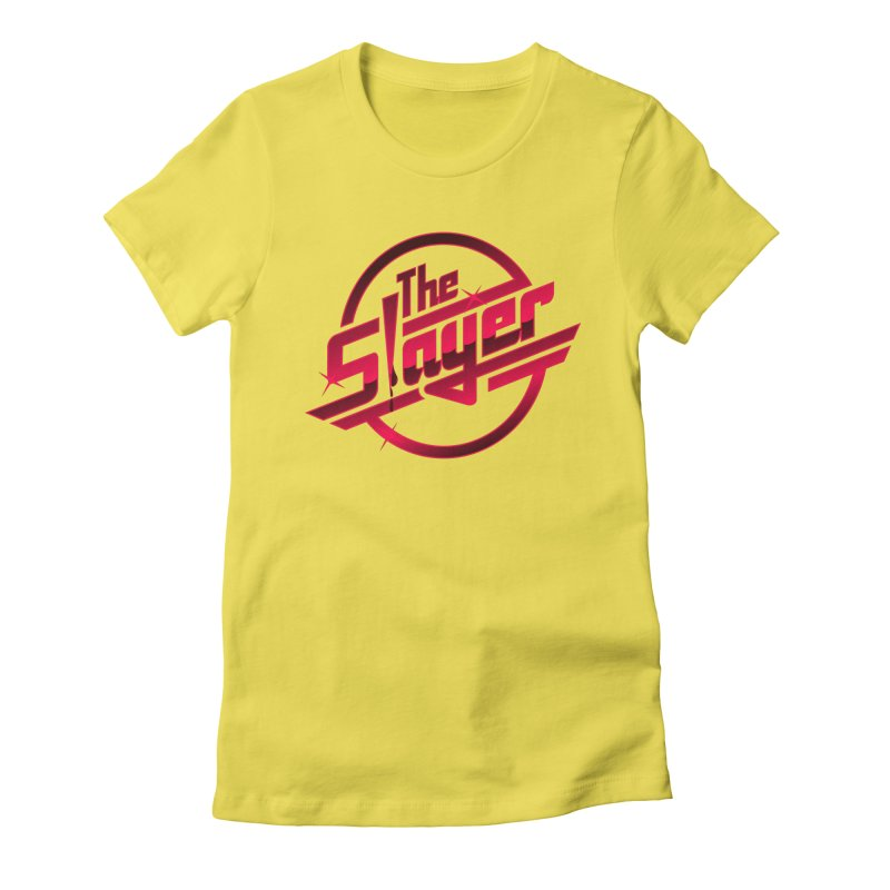 Once More With Slaying Women's Fitted T-Shirt by AMODesign's Artist Shop