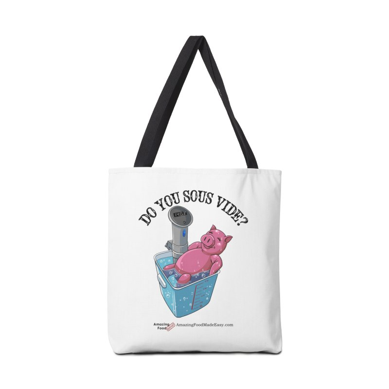 Do You Sous Vide Pig Light Accessories Bag by Amazing Food Made Easy Boutique