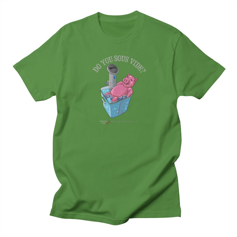 Do You Sous Vide Pig Dark Men's Regular T-Shirt by Amazing Food Made Easy Boutique