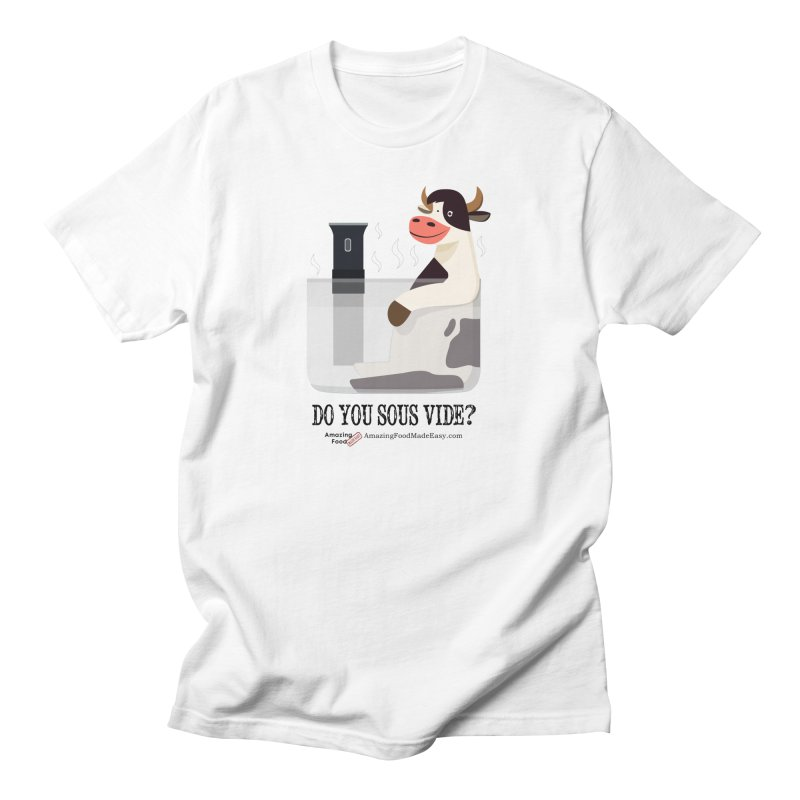 Do You Sous Vide Cow Light Men's T-Shirt by Amazing Food Made Easy Boutique