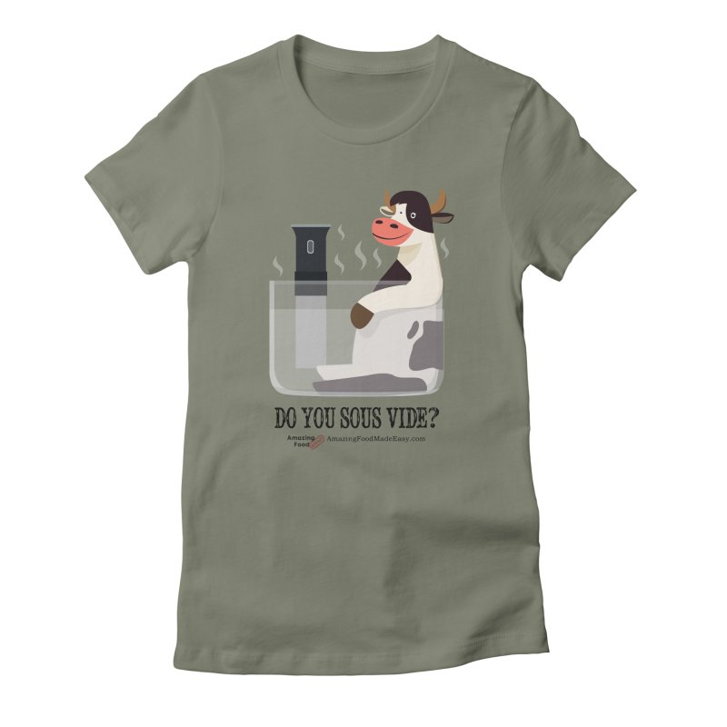 Do You Sous Vide Cow Light Women's T-Shirt by Amazing Food Made Easy Boutique