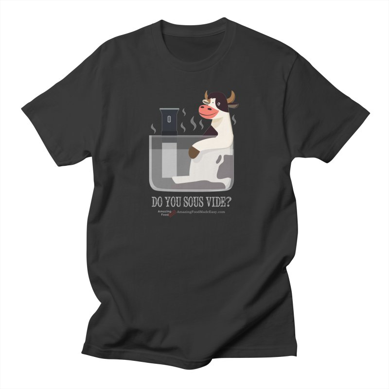 Do You Sous Vide Cow Dark Men's T-Shirt by Amazing Food Made Easy Boutique