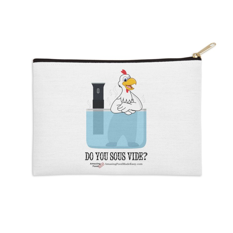 Do You Sous Vide Chicken Light Accessories Zip Pouch by Amazing Food Made Easy Boutique