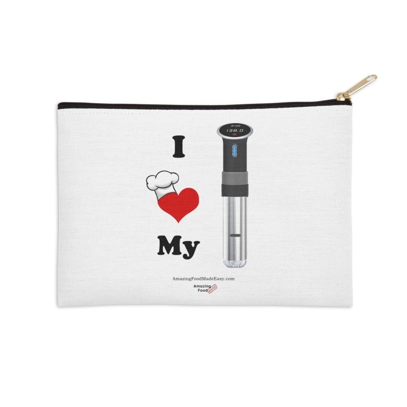 I Love My Sous Vide Black Accessories Zip Pouch by Amazing Food Made Easy Boutique