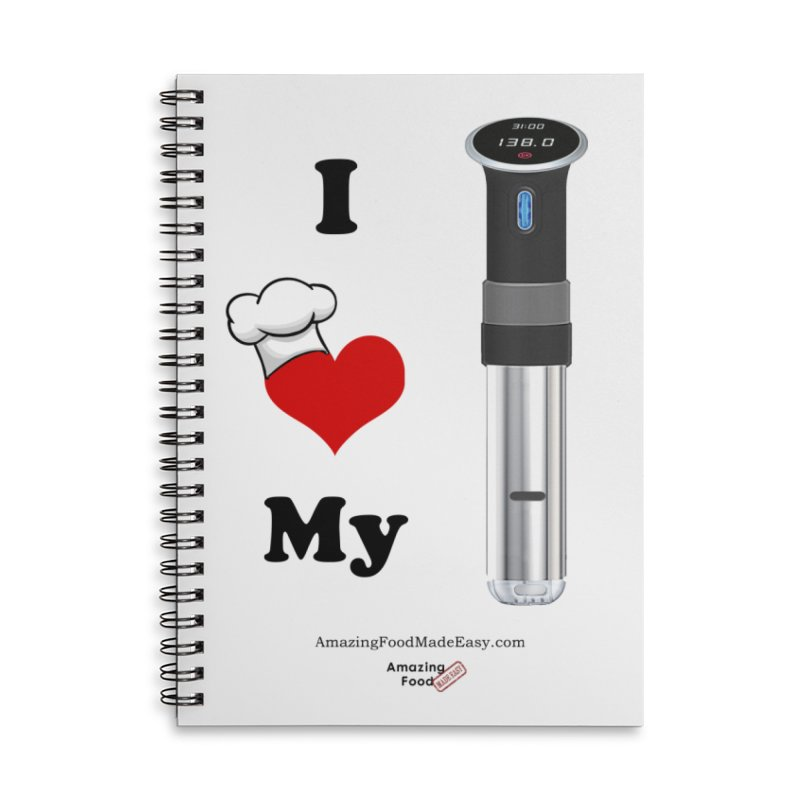 I Love My Sous Vide Black Accessories Notebook by Amazing Food Made Easy Boutique