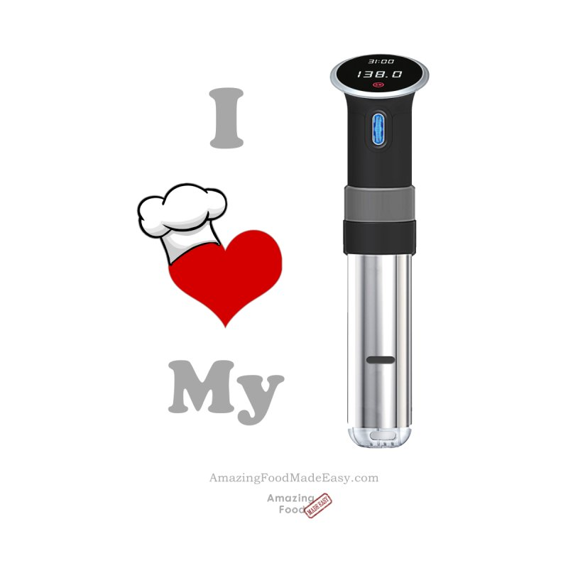 I Love My Sous Vide Black Dark by Amazing Food Made Easy Boutique