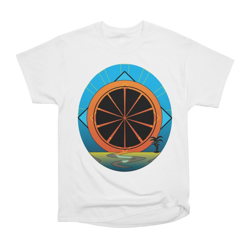 Juicy Neon California Sunset Women's T-Shirt by ambersphere's artist shop