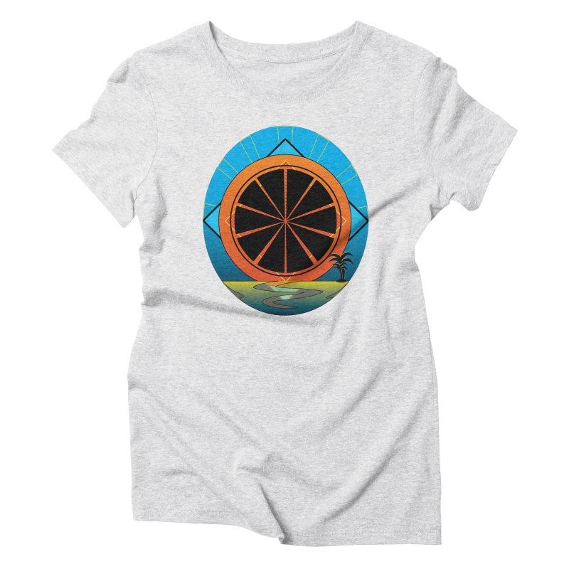 Juicy Neon California Sunset Women's T-Shirt by ambersphere's artist shop
