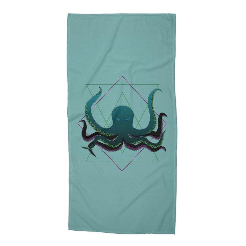 Soul Eater Octopus Accessories Beach Towel by ambersphere's artist shop