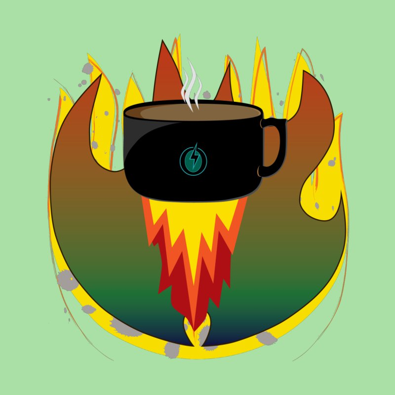 Coffee Energy - Fire Accessories Face Mask by ambersphere's artist shop