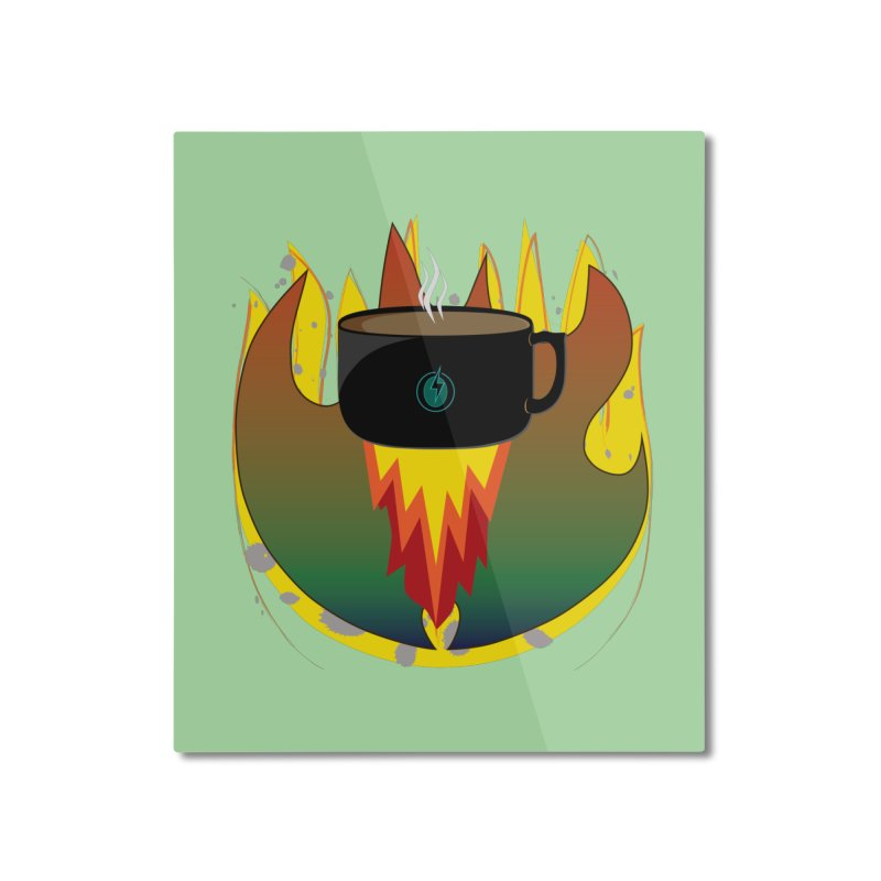 Coffee Energy - Fire Home Mounted Aluminum Print by ambersphere's artist shop
