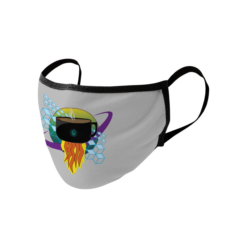 Coffee Energy - Rocket Fuel Accessories Face Mask by ambersphere's artist shop