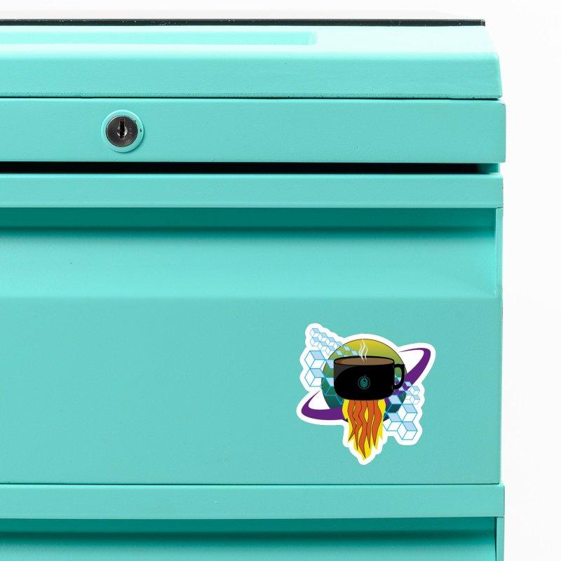 Coffee Energy - Rocket Fuel Accessories Magnet by ambersphere's artist shop