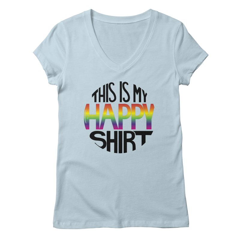This Is My Happy Shirt (The Magicians) Women's V-Neck by ambersphere's artist shop