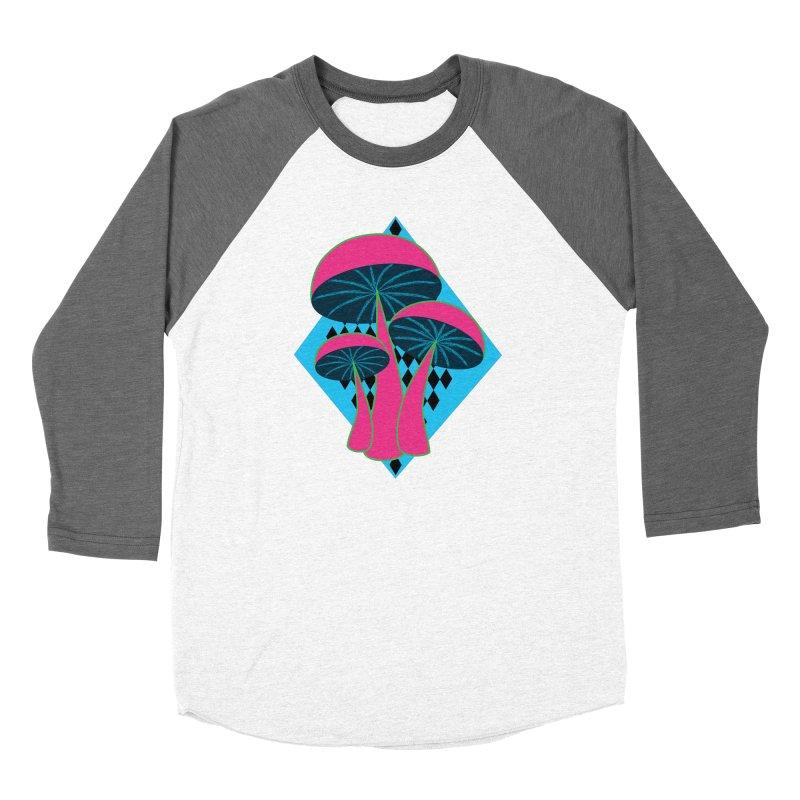 Radical Mushrooms Women's Longsleeve T-Shirt by ambersphere's artist shop