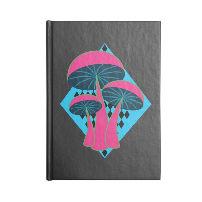 Radical Mushrooms Accessories Notebook by ambersphere's artist shop