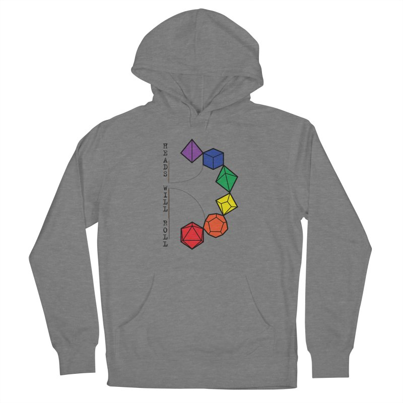 Heads Will Roll Dice Axe (Black Version) Women's Pullover Hoody by ambersphere's artist shop