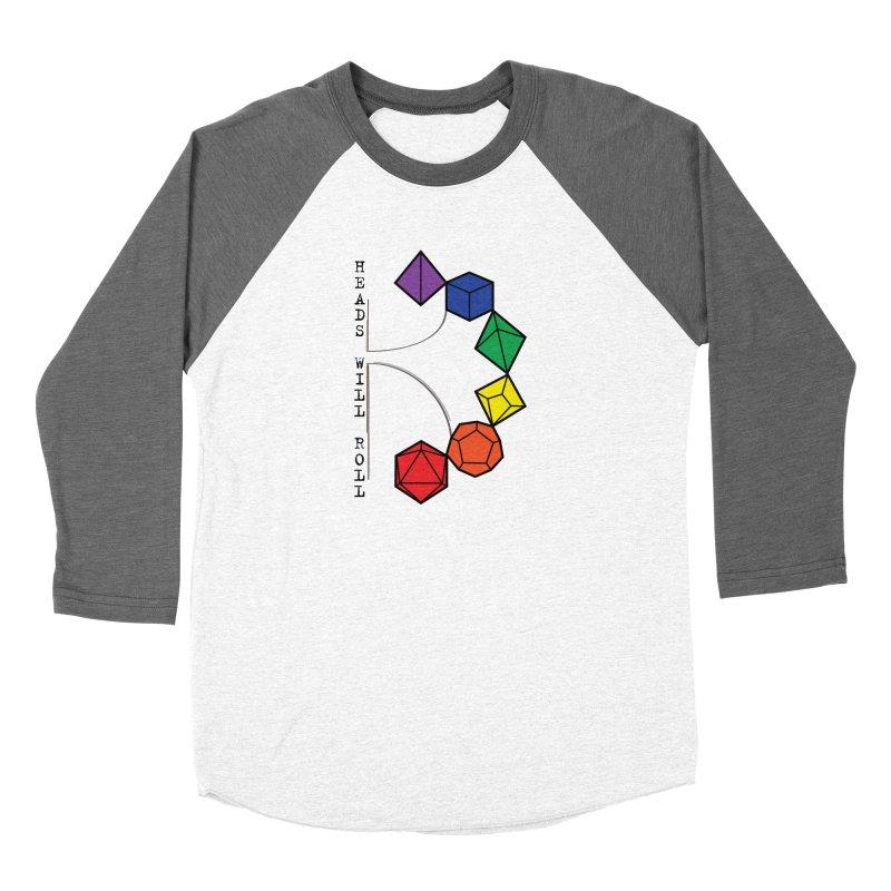 Heads Will Roll Dice Axe (Black Version) Women's Longsleeve T-Shirt by ambersphere's artist shop