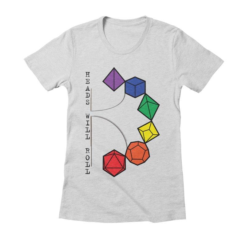 Heads Will Roll Dice Axe (Black Version) Women's T-Shirt by ambersphere's artist shop