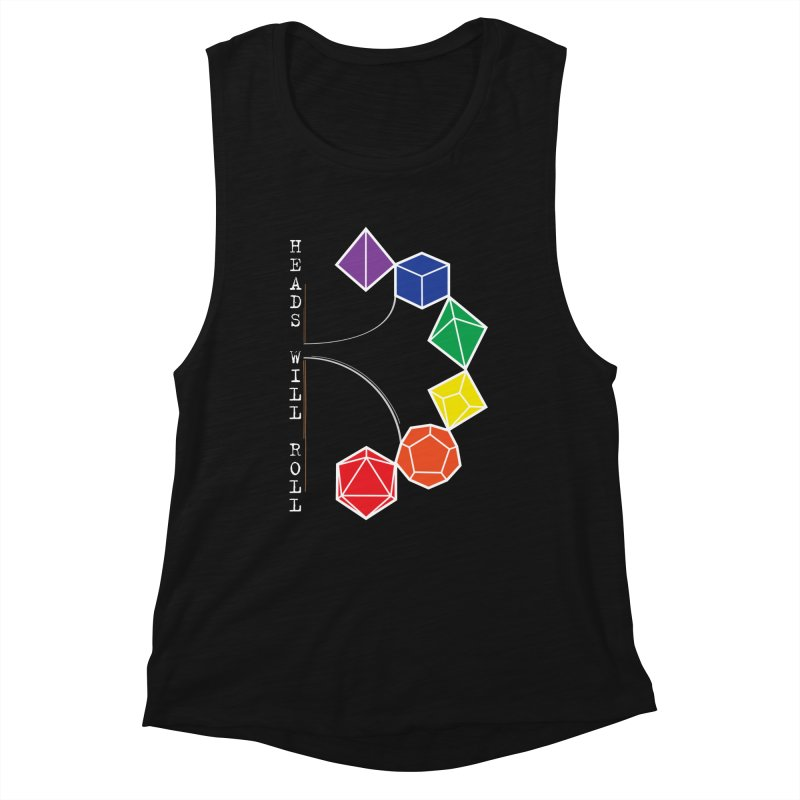 Heads Will Roll Dice Axe (White Version) Women's Tank by ambersphere's artist shop
