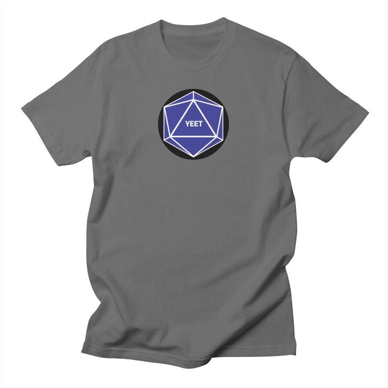 Magic D20 Says Yeet Men's T-Shirt by ambersphere's artist shop