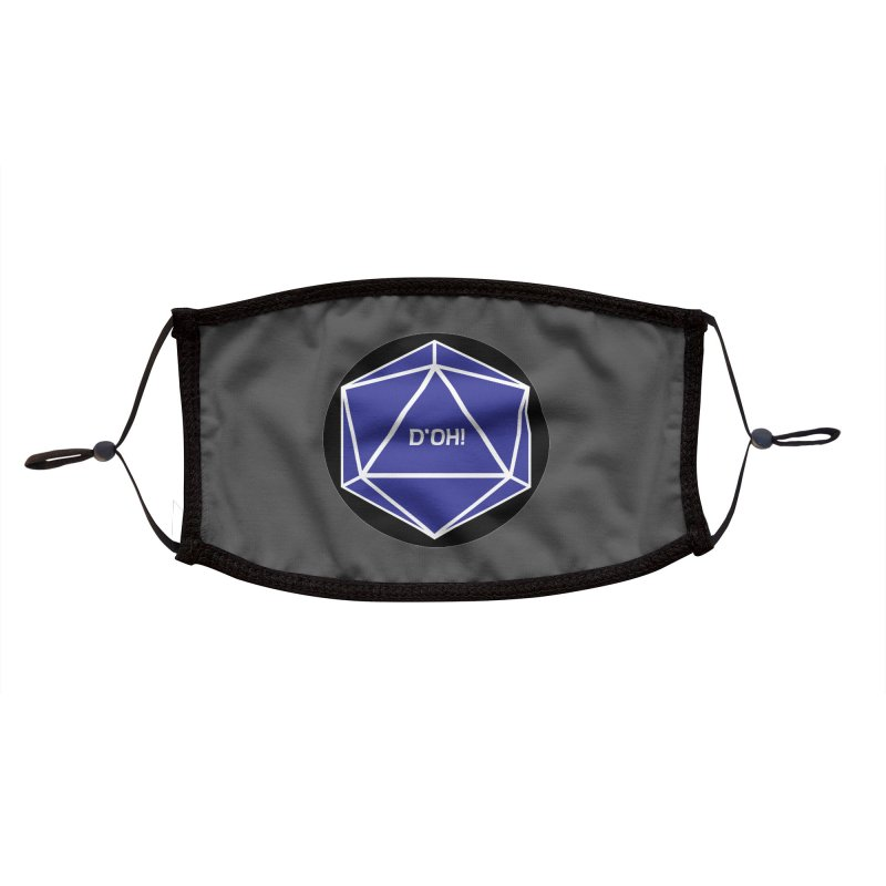 D'Oh! Magic D20 Accessories Face Mask by ambersphere's artist shop