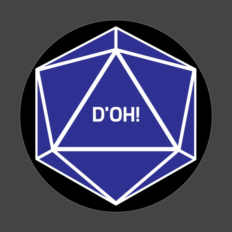 D'Oh! Magic D20 Women's Longsleeve T-Shirt by ambersphere's artist shop