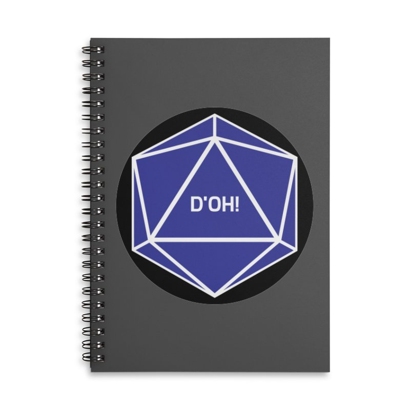 D'Oh! Magic D20 Accessories Notebook by ambersphere's artist shop