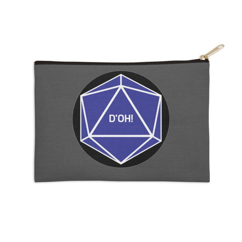 D'Oh! Magic D20 Accessories Zip Pouch by ambersphere's artist shop