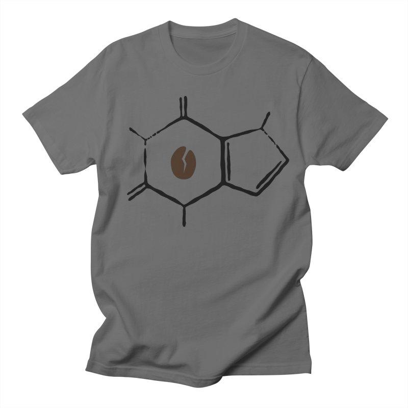 Caffeine Molecule Men's T-Shirt by ambersphere's artist shop