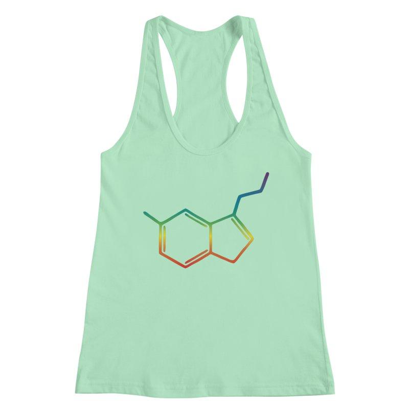 Serotonin Molecule Women's Tank by ambersphere's artist shop