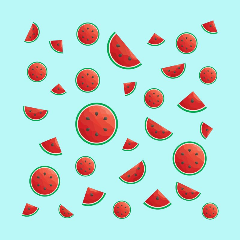 Lopoly Watermelons Men's T-Shirt by ambersphere's artist shop