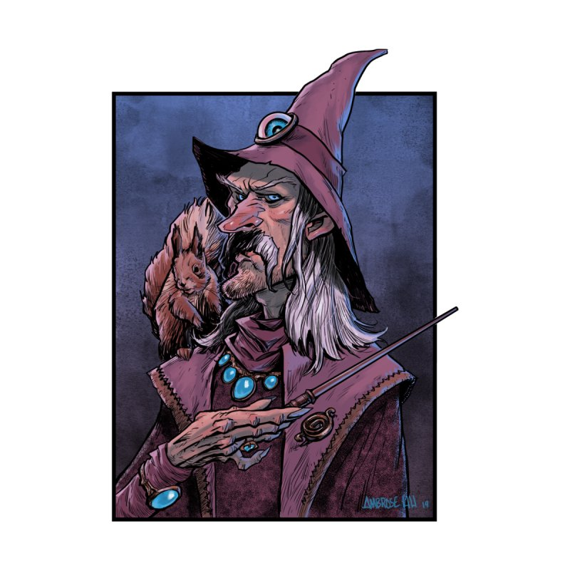 Wizard with Squirrel by Ambrose H.H.'s Artist Shop