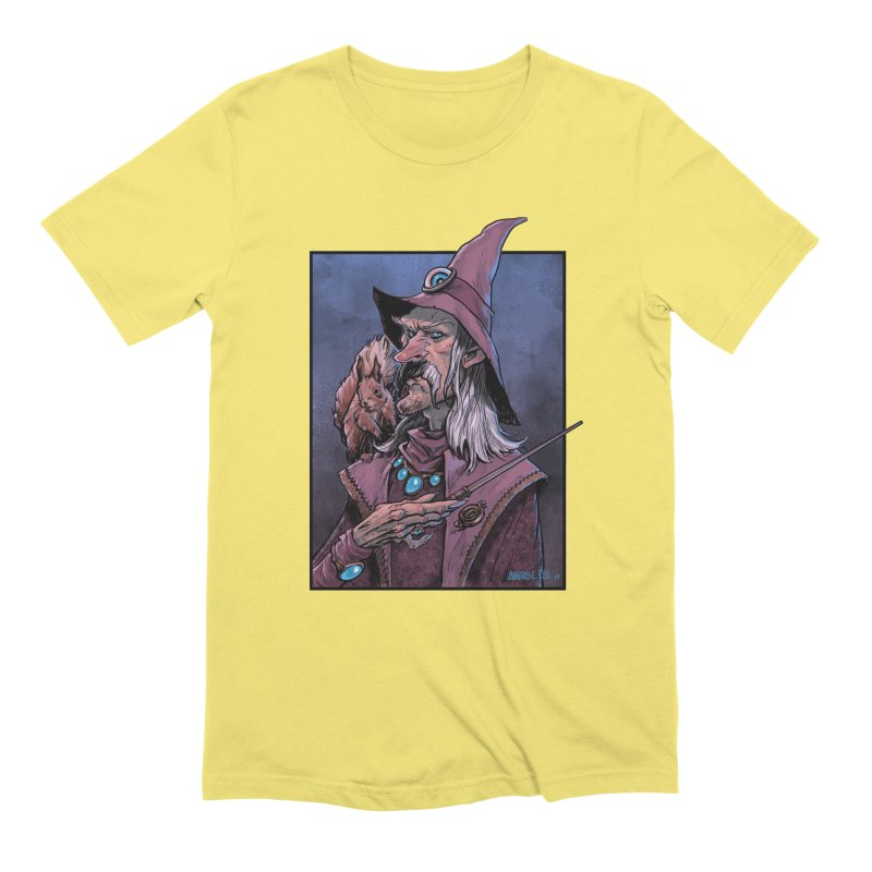 Wizard with Squirrel Men's T-Shirt by Ambrose H.H.'s Artist Shop
