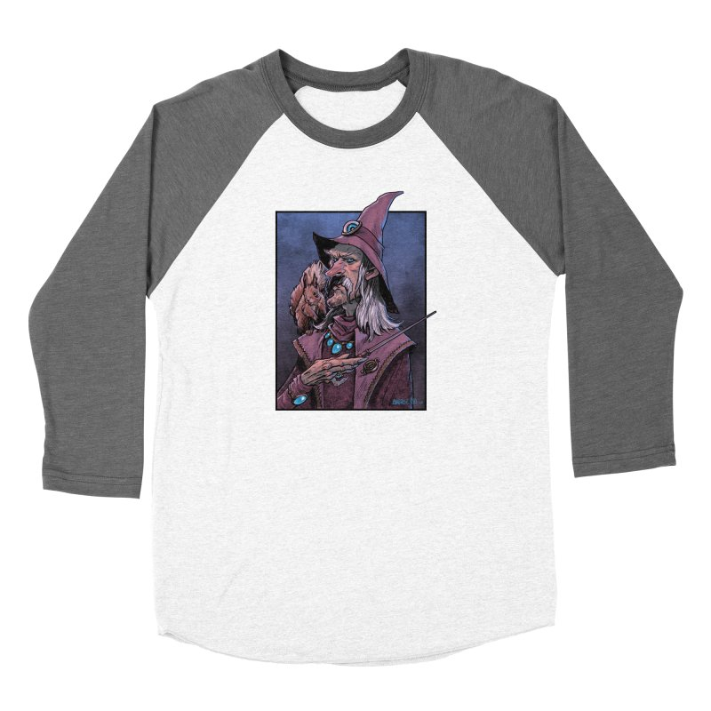 Wizard with Squirrel Women's Longsleeve T-Shirt by Ambrose H.H.'s Artist Shop