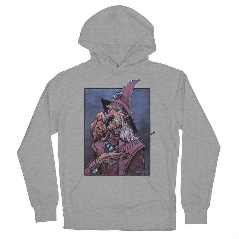 Wizard with Squirrel Women's French Terry Pullover Hoody by Ambrose H.H.'s Artist Shop