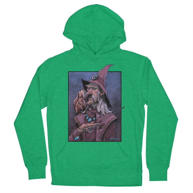 Wizard with Squirrel Men's French Terry Pullover Hoody by Ambrose H.H.'s Artist Shop