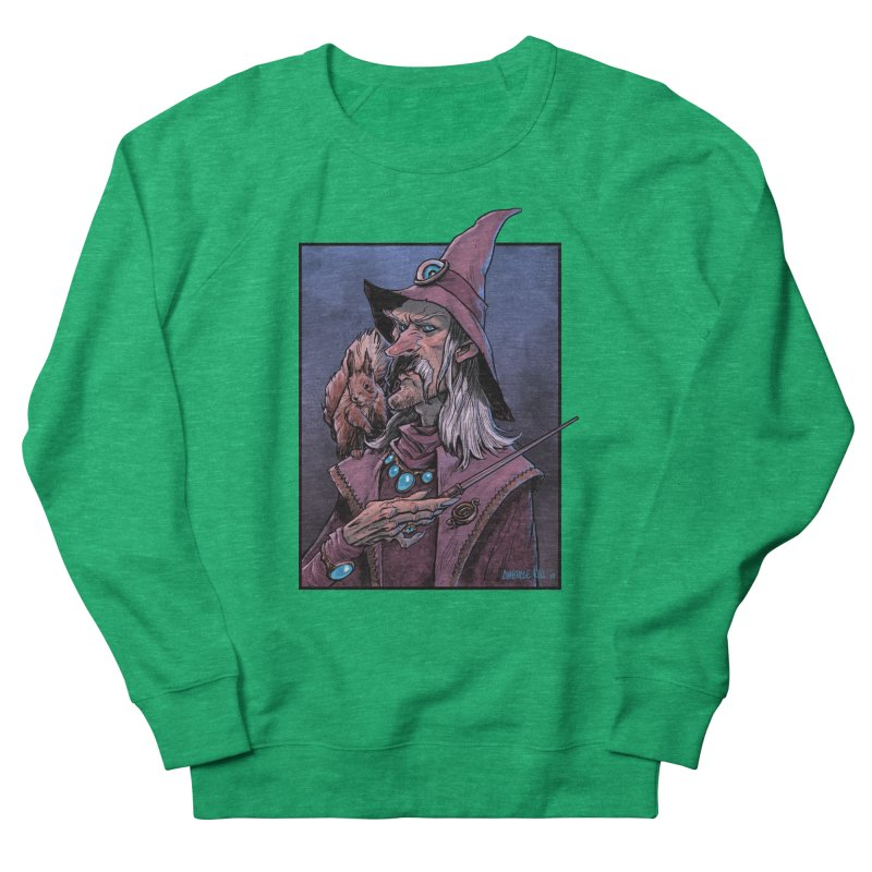 Wizard with Squirrel Women's Sweatshirt by Ambrose H.H.'s Artist Shop