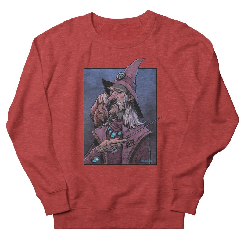 Wizard with Squirrel Women's French Terry Sweatshirt by Ambrose H.H.'s Artist Shop