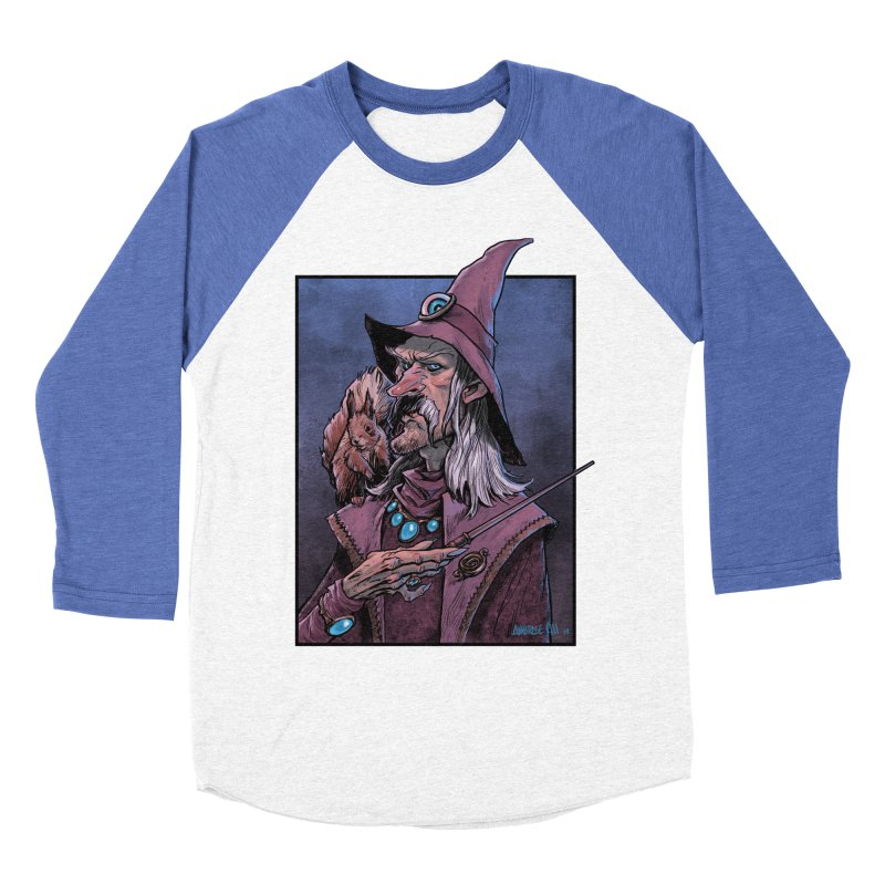 Wizard with Squirrel Women's Baseball Triblend Longsleeve T-Shirt by Ambrose H.H.'s Artist Shop