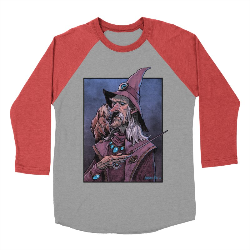 Wizard with Squirrel Men's Longsleeve T-Shirt by Ambrose H.H.'s Artist Shop