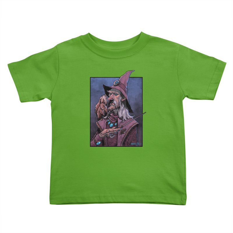 Wizard with Squirrel Kids Toddler T-Shirt by Ambrose H.H.'s Artist Shop