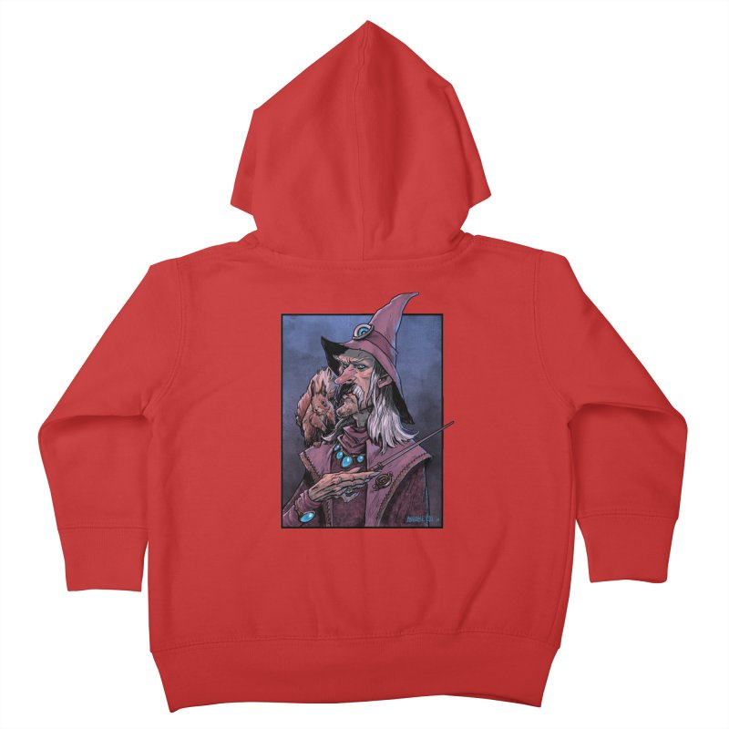 Wizard with Squirrel Kids Toddler Zip-Up Hoody by Ambrose H.H.'s Artist Shop