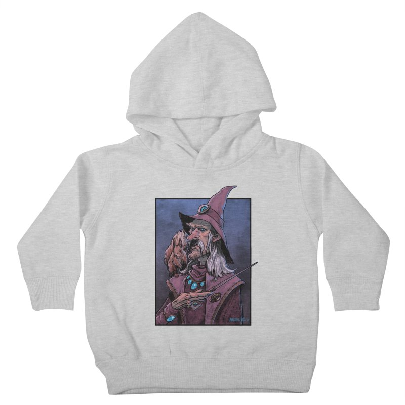 Wizard with Squirrel Kids Toddler Pullover Hoody by Ambrose H.H.'s Artist Shop