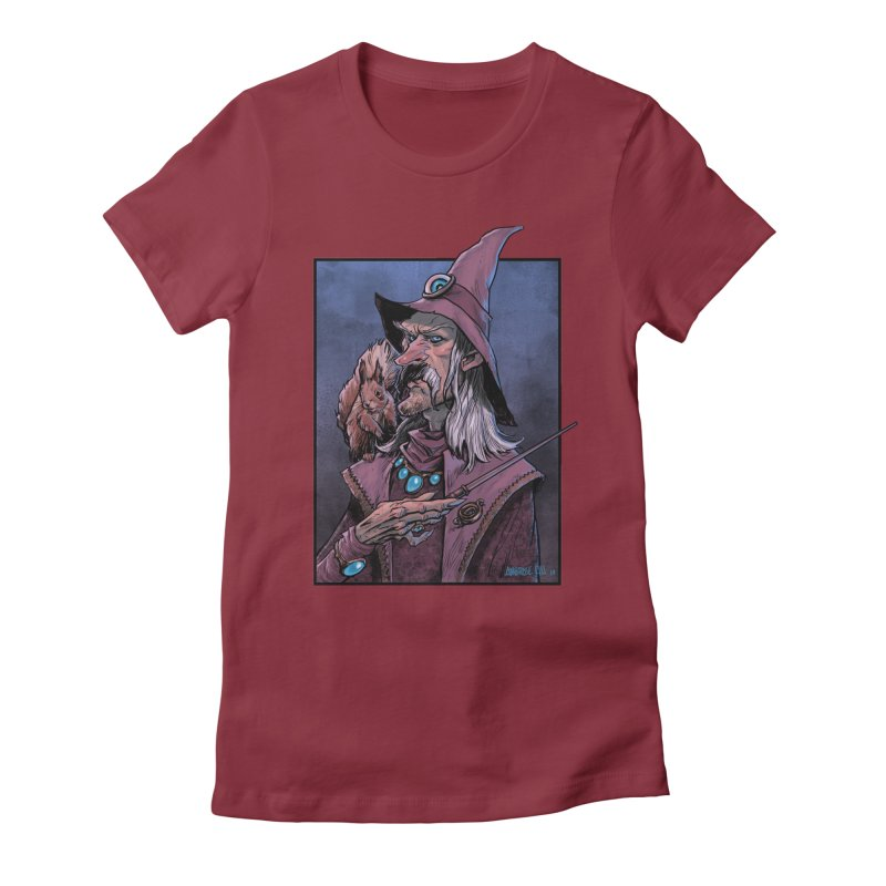 Wizard with Squirrel Women's T-Shirt by Ambrose H.H.'s Artist Shop